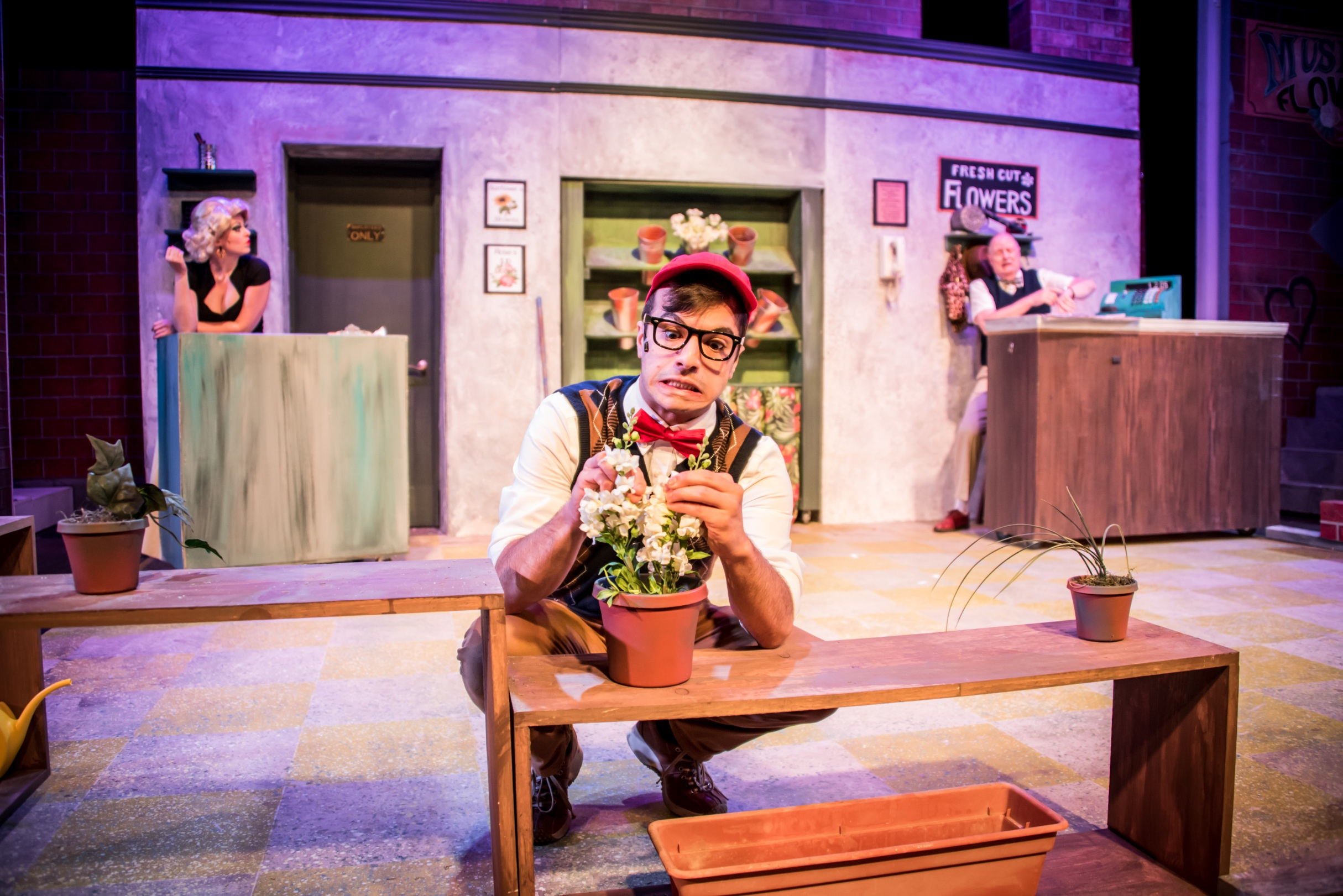 Seymour in  Little Shop of Horrors  at  Pagosa Springs Center for the Arts .