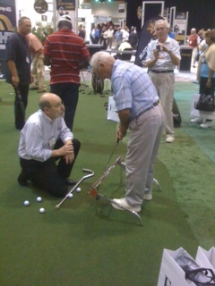 Marc working with client at the pga show