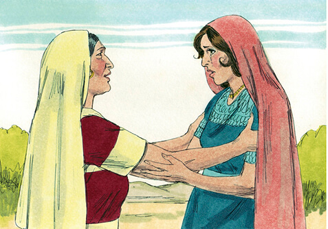 Illustration of Ruth and Mother in law