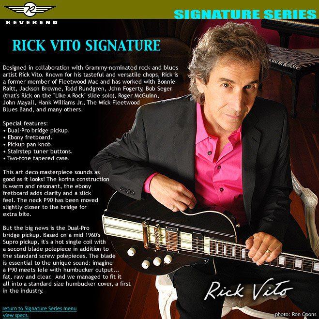 Rick Vito Signature Ad