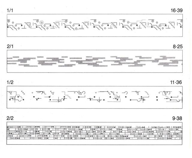 Graphic scores for Music for Airports