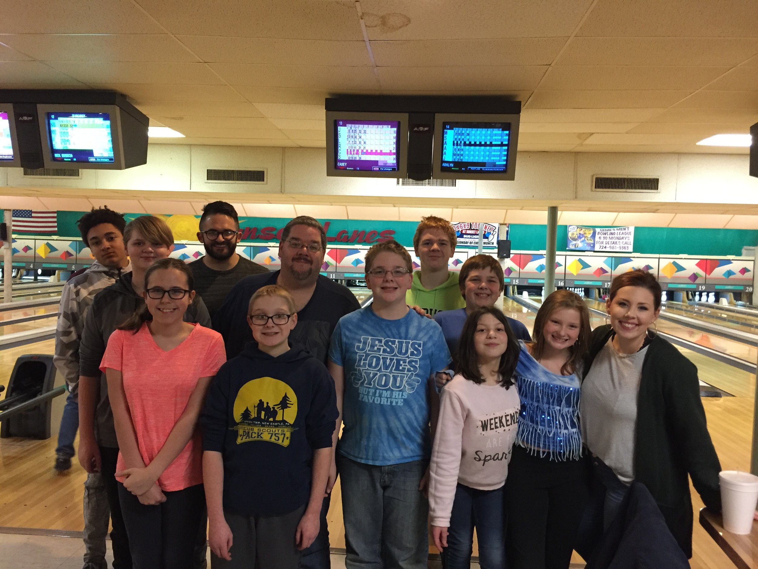 Pizza and Bowling - February 2019