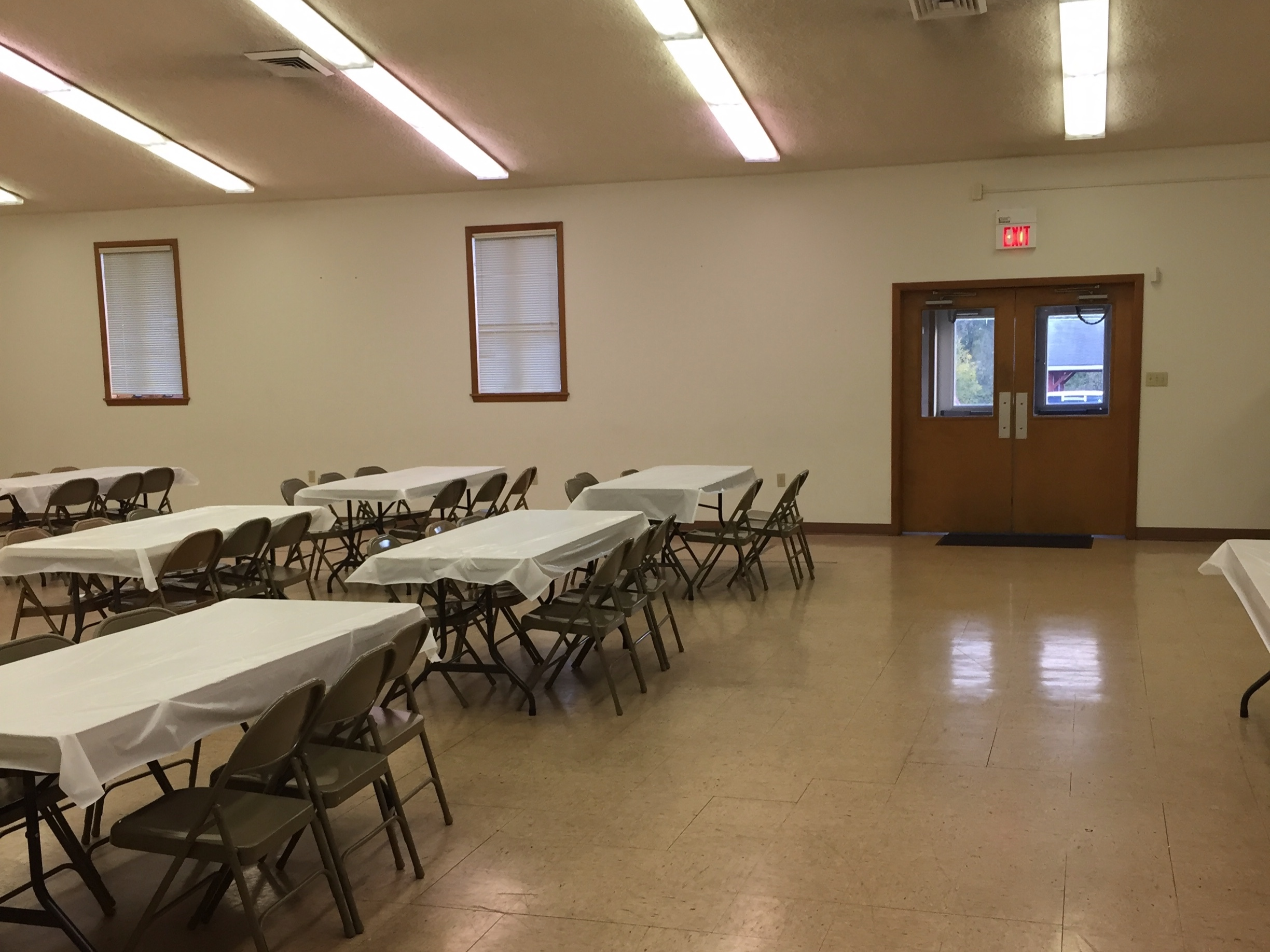 Milley Fellowship Hall - We rent our fellowship hall for events, parties, and get-togethers. You can inquire about hall rental here.