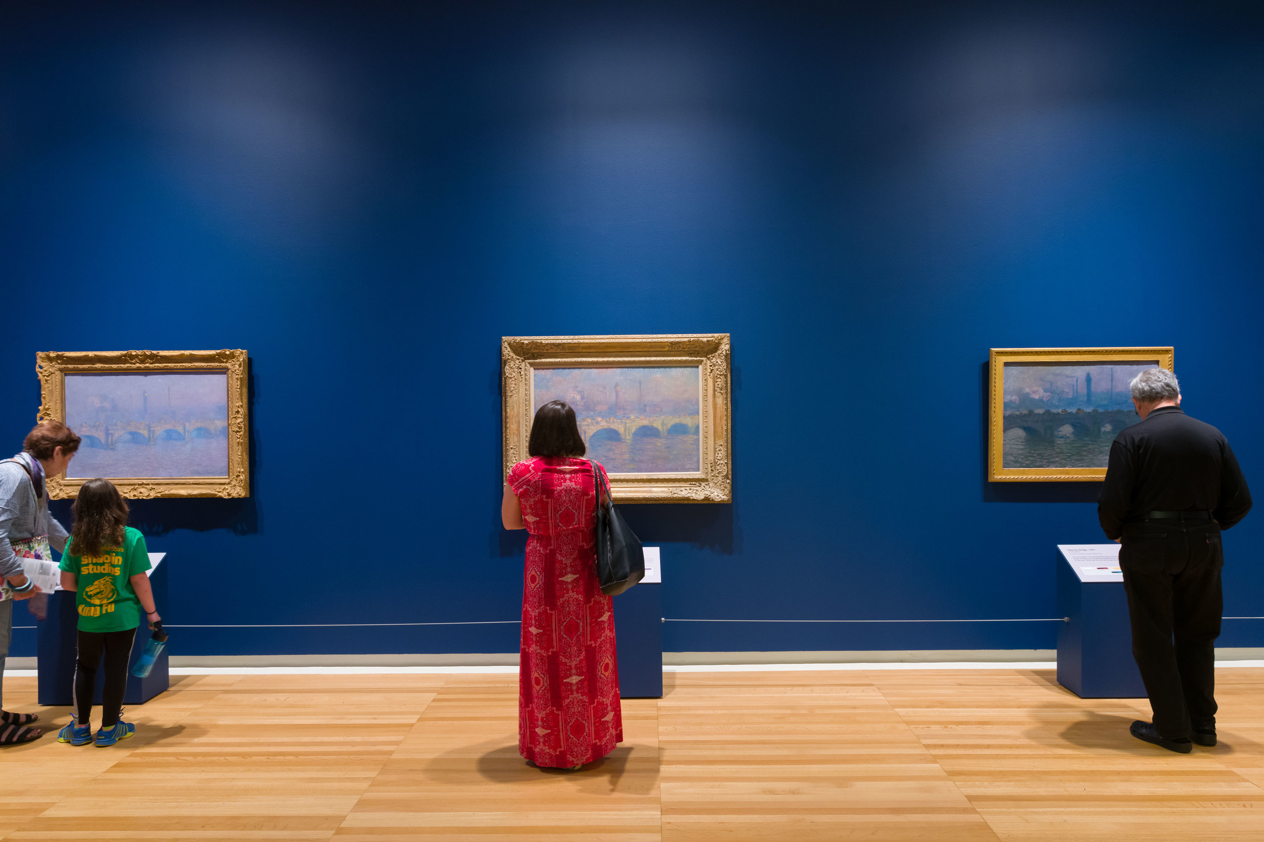 Installation view of Monet and the Modern City, 2019, Carnegie Museum of Art. Photo: Bryan Conley