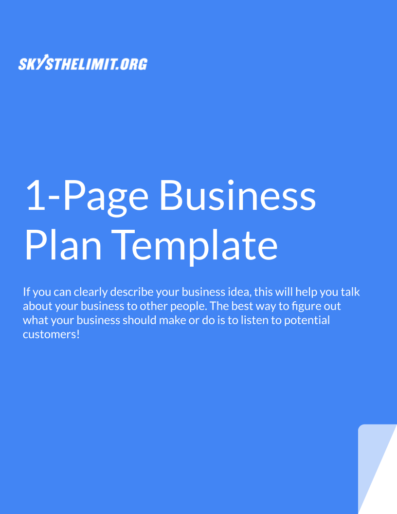 How to Write a Perfect 30 Page Business Plan   Sky's the Limit —How ...