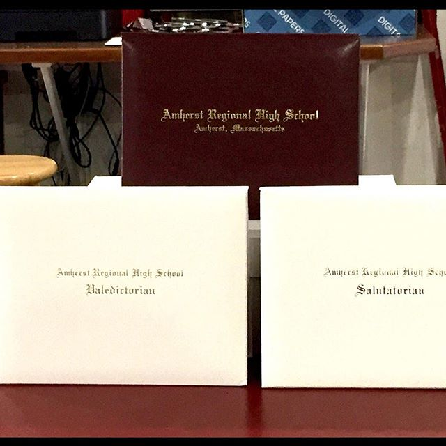 Graduation season is almost upon us. Just look at these beautiful diploma covers we did for Amherst Regional High School #amherstregionalhighschool #arhs #graduation2018🎓 #amherstcopyanddesignworks #keepprintalive
