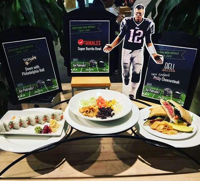 A cutout we made of #TB12 for our friends at @umassdining for their Super Bowl week specials. #gopatriots #superbowl52 #umassamherst#umassdining