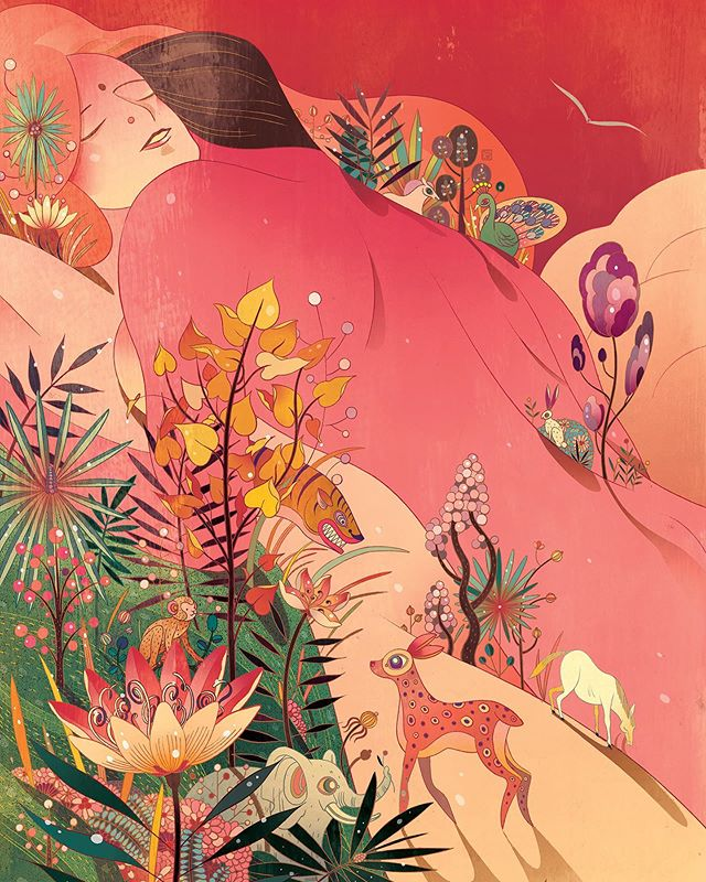 Artist and Young Guns 16 winner @victongai created beautiful illustrations for a collector's edition of The Kama Sutra of Vatsyayana, the 2,000 year old manual of virtuous living, courtship and pleasure. . The intricate body of work won a Silver Cube in Illustration at this year's ADC Awards. #ADCawards