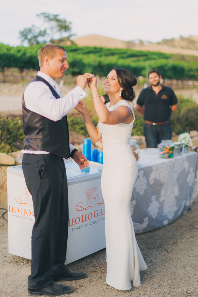 Gelato Catering at a Winery Wedding