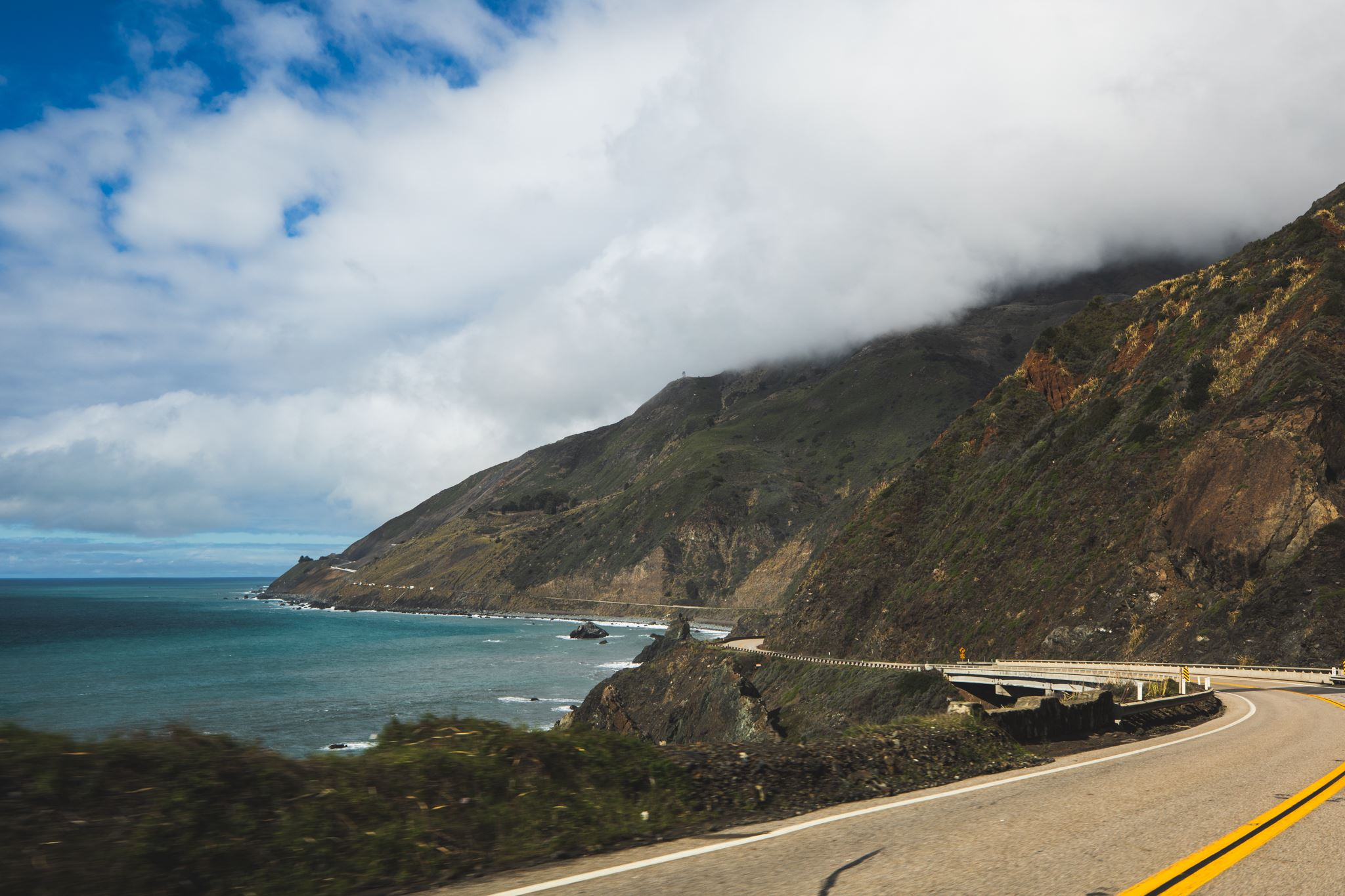 Any place by the coast provides beautiful views like this for a true taste California.