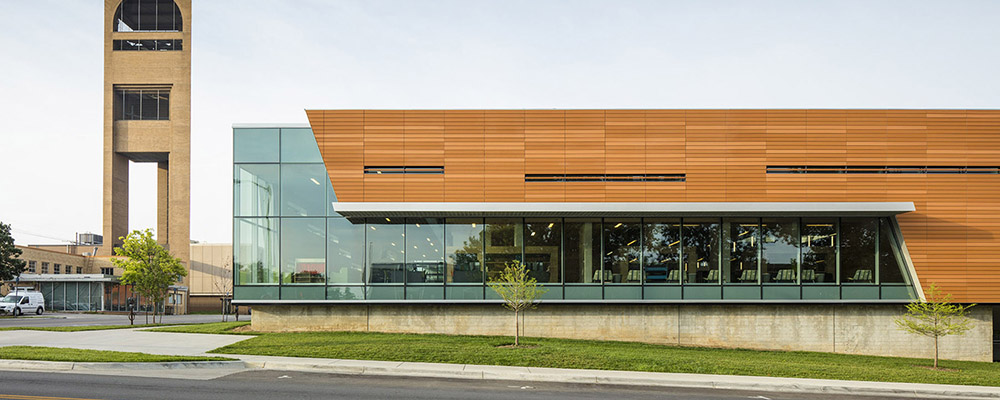 COMMERCIAL - Kennedy Glass has taken on some of the most ambitious commercial glass projects to date. Featured jobs include the Lawrence Public Library, the DeBruce Center, and the Lawrence Boys and Girls Club. Your business is in good hands with the professionals at Kennedy Glass.