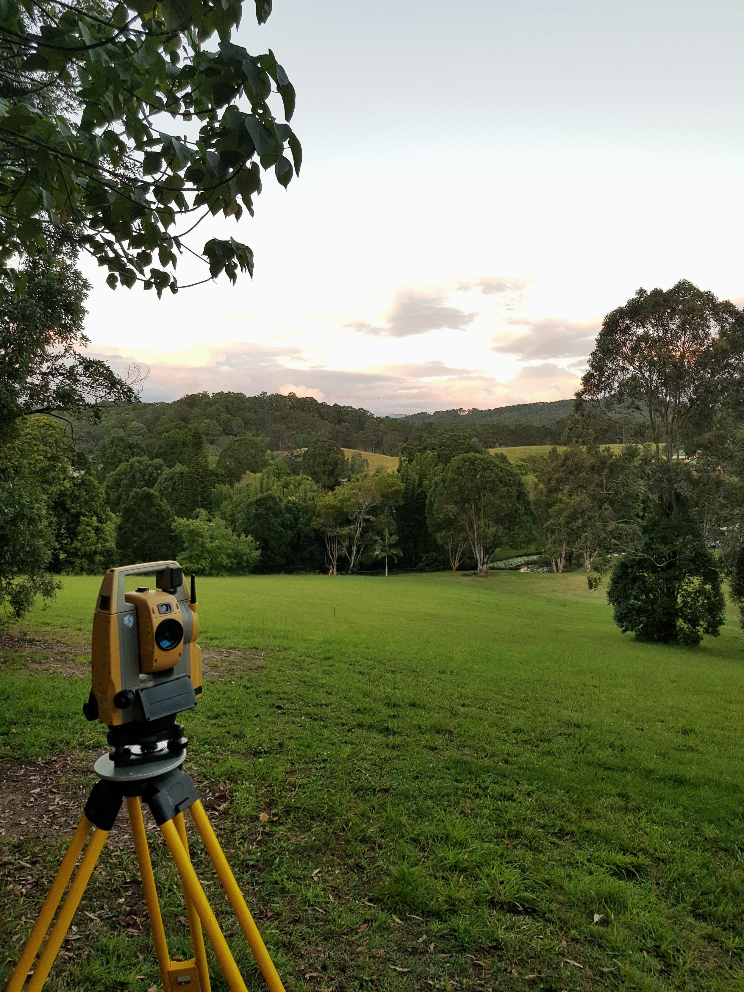 surveying land
