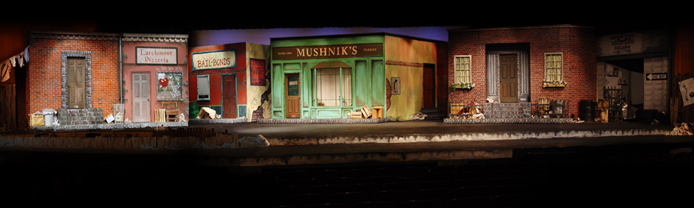 Little Shop of Horrors,  2007   (UHSPAC) • Scenic Design: Peter Avagliano • Scenic Artists: Paul Gaschler and Brian Toscano