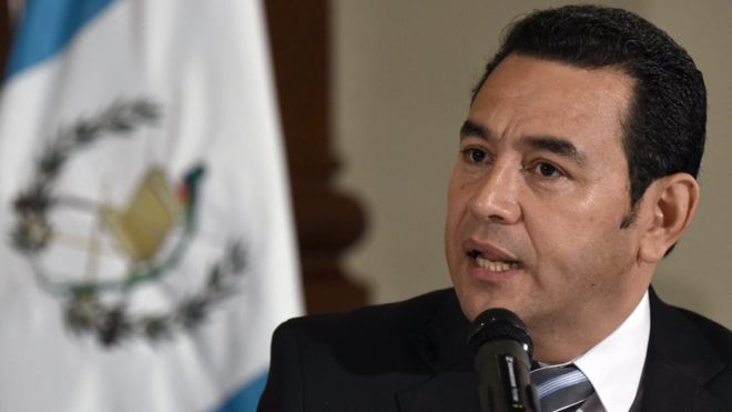 Prosecutors from a UN anticorruption body were looking into the Guatemalan president. Getty Images.
