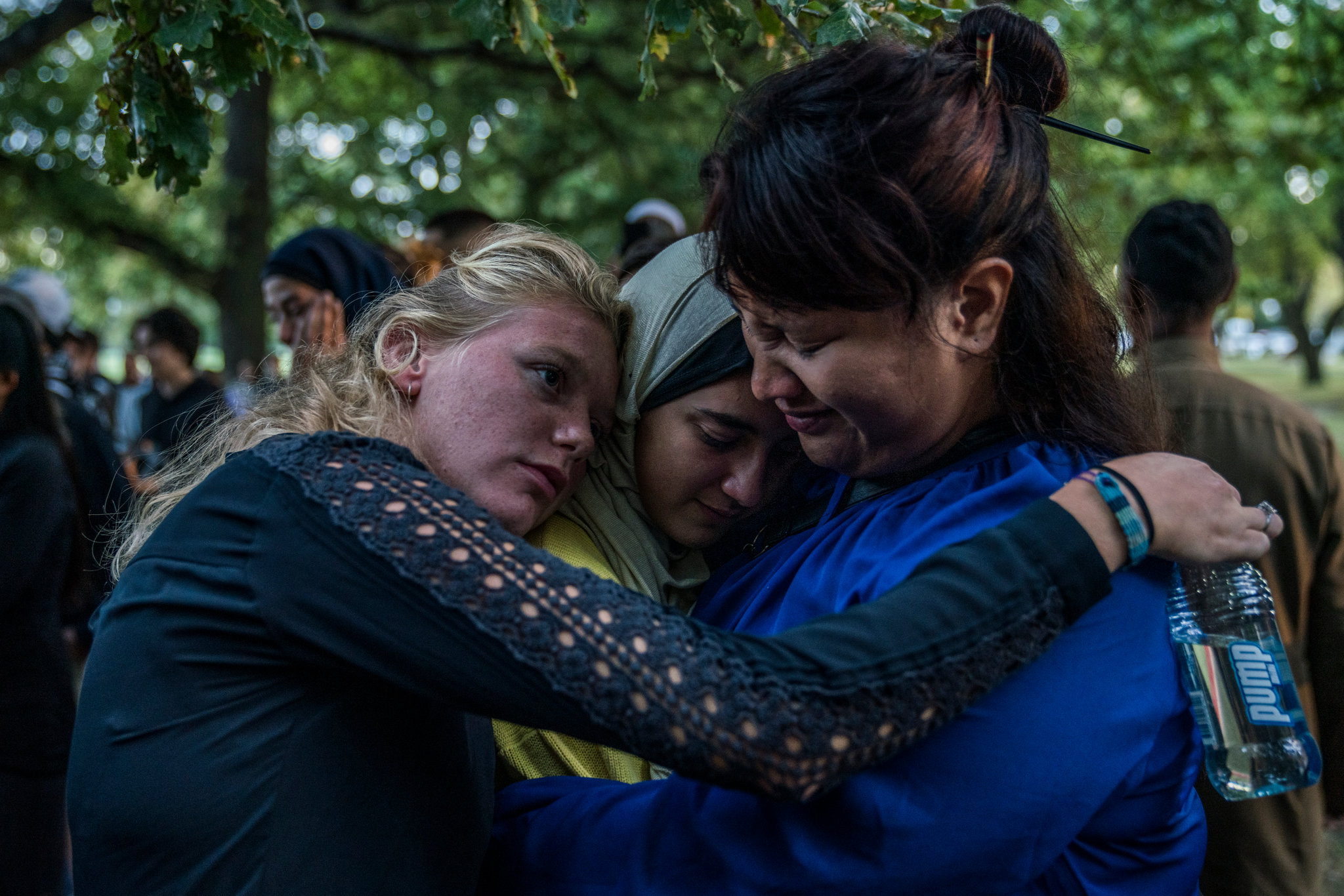 A community-led vigil in tribute to victims near Al Noor Mosque in Christchurch, New Zealand, on Wednesday. CreditAdam Dean for The New York Times