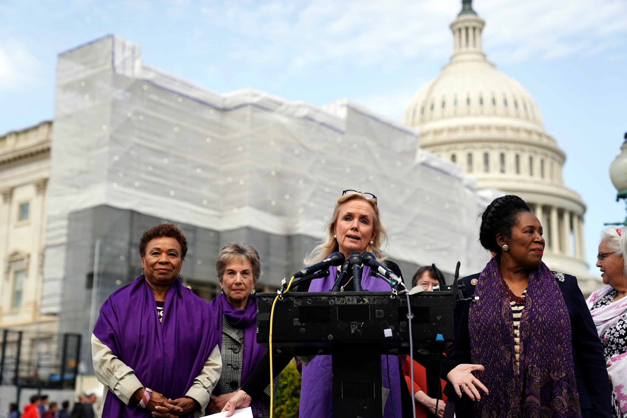 """I know that fear, I know that terror and I just want to try to save another family from going through that terror,"" said Representative Debbie Dingell, Democrat of Michigan. Credit Erin Schaff/The New York Times"
