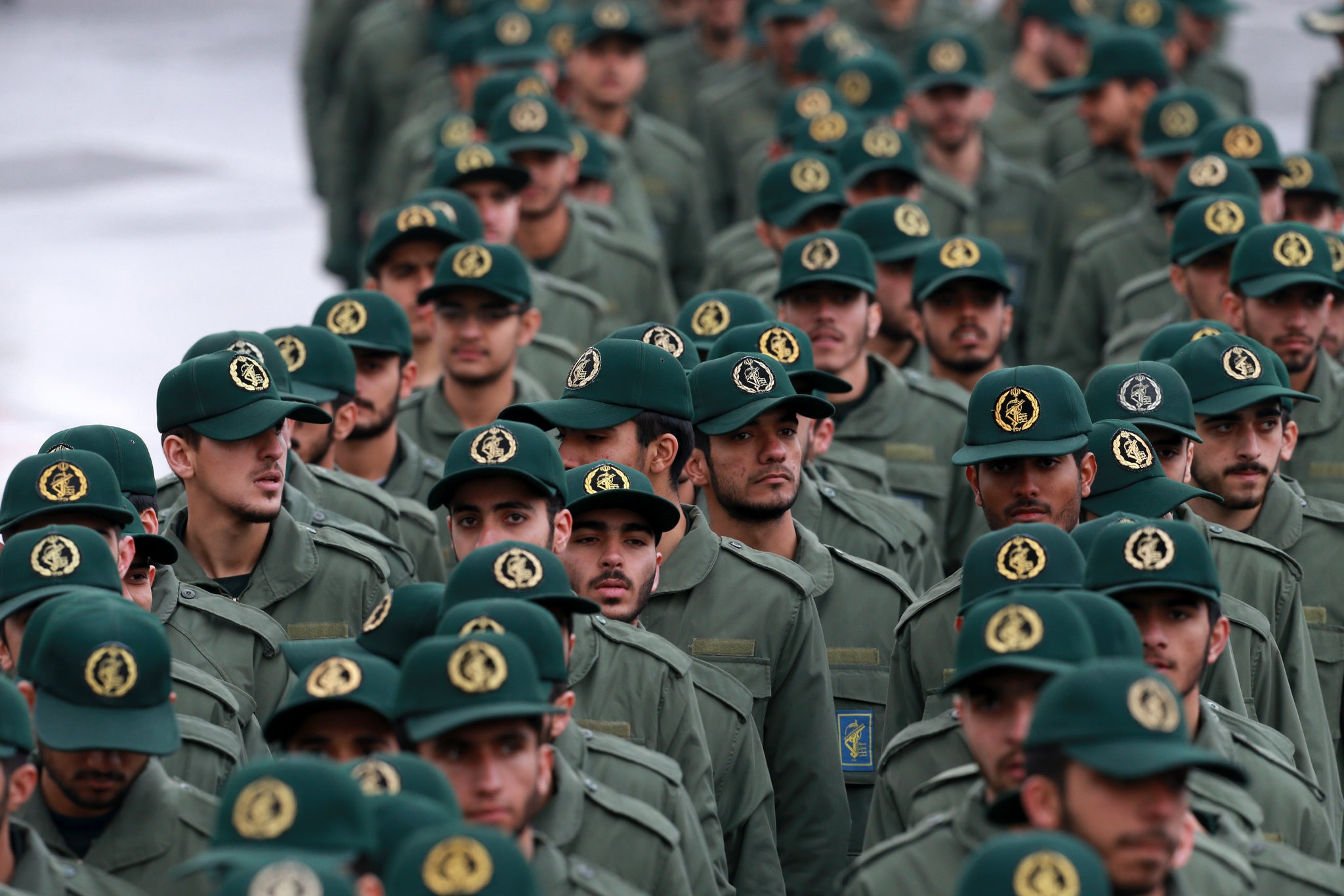 "Members of the Islamic Revolutionary Guards Corps in Tehran this year. President Trump said the designation ""will significantly expand the scope and scale of our maximum pressure on the Iranian regime."" Credit Vahid Salemi/Associated Press"