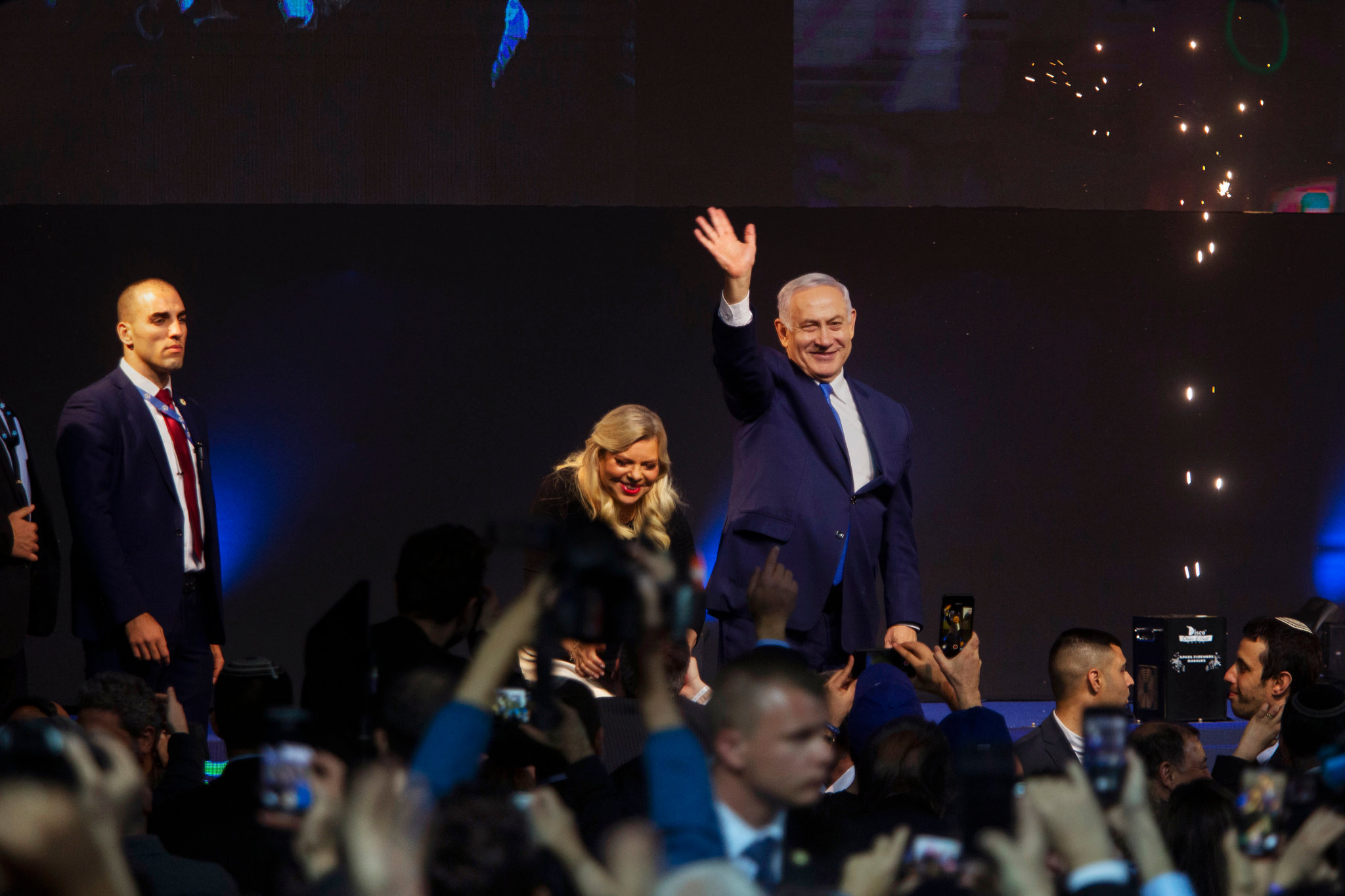 Prime Minister Benjamin Netanyahu of Israel appeared close to winning a fourth consecutive term, and his fifth overall, according to the latest results. Credit Dan Balilty for The New York Times