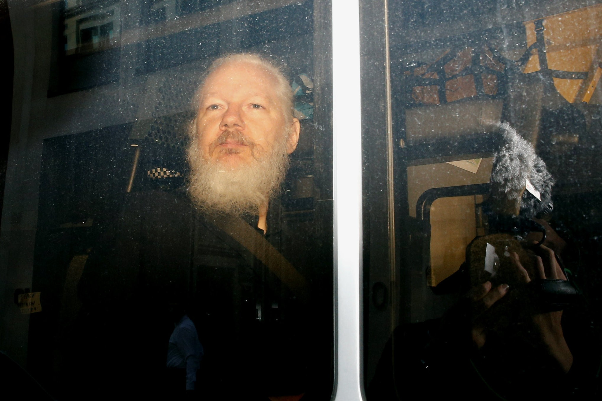 Julian Assange, the founder of WikiLeaks, was arrested Thursday at the Ecuadorean Embassy in London, where he had sheltered since 2012. Credit Henry Nicholls/Reuters