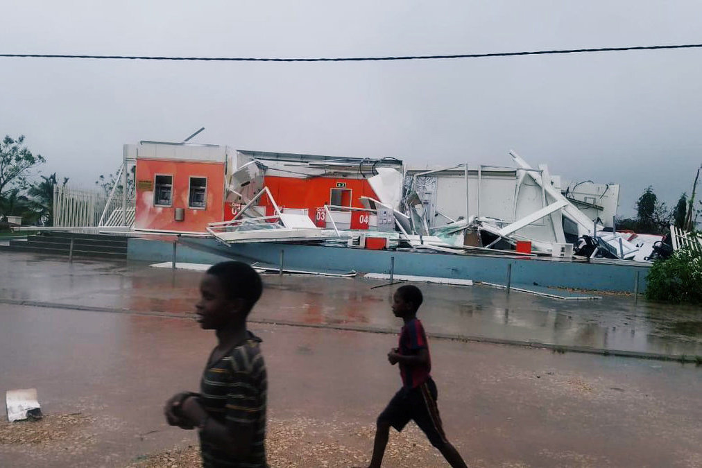 The aftermath of Cyclone Kenneth in Pemba, Mozambique, on Friday. Credit via Reuters