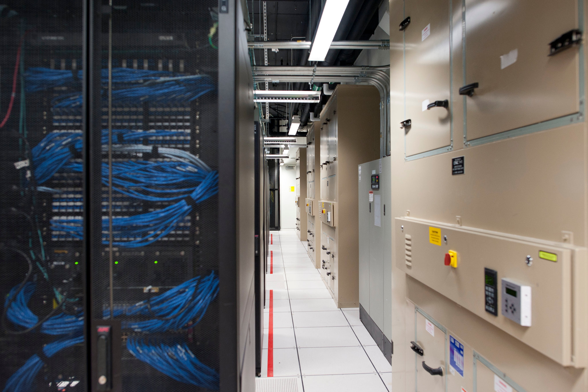 The server room at Symantec in Culver City, Calif. The company provided the first evidence that Chinese state-sponsored hackers had acquired some of the National Security Agency's cybertools before other hackers. Credit Michal Czerwonka for The New York Times