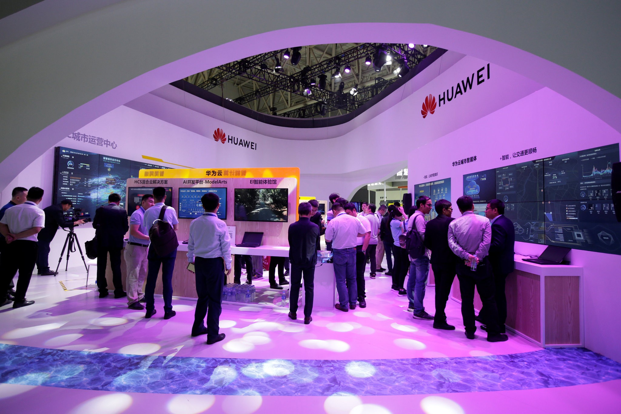 The Trump administration has moved to restrict Huawei's access to American technology. Credit Jason Lee/Reuters