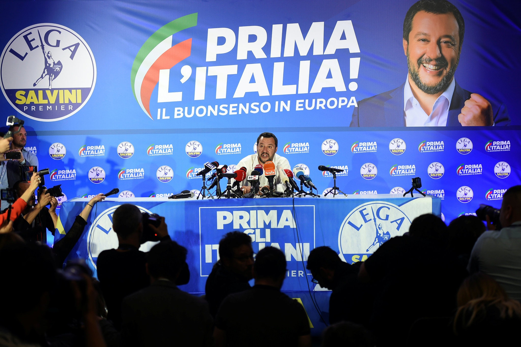 Matteo Salvini, Italy's interior minister and leader of the anti-migrant League Party, in Milan, Italy, on Monday. Credit Guglielmo Mangiapane/Reuters