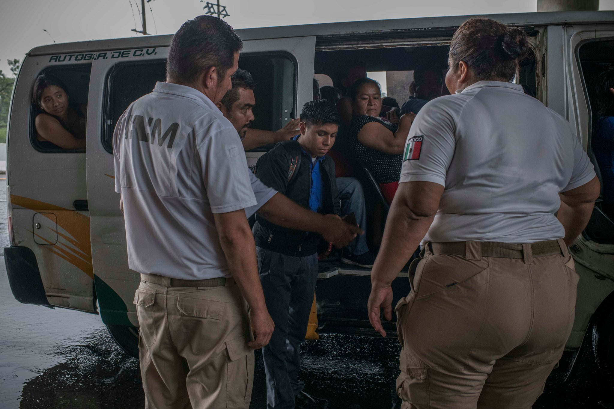 The Mexican authorities detained migrants at a checkpoint near the border with Guatemala on Sunday. The Trump administration wants the Mexican government to stop all undocumented migrants in Mexico. Credit Daniele Volpe for The New York Times