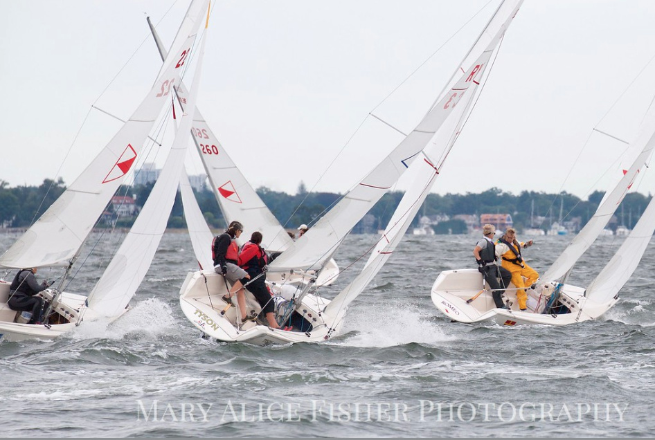 The Lorna Whittelsey 2018 - Held in early September at Indian Harbor Yacht Club in Greenwich, CT, with spinnakers.