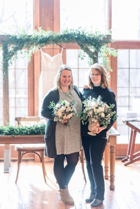 Hi! We're Kelly and Laura - We became friends running our floral design businesses Bloom Flower Co. and Petunia Bergamot.  Over the years, we've discovered that more and more brides are looking for similar things: great design, transparent pricing, and a stress-free experience.