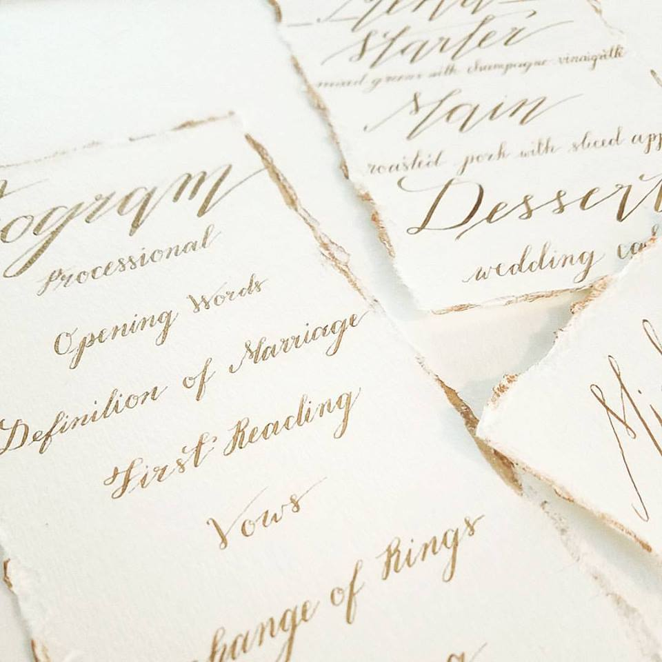 stationery + calligraphy:  haven & hasbrook