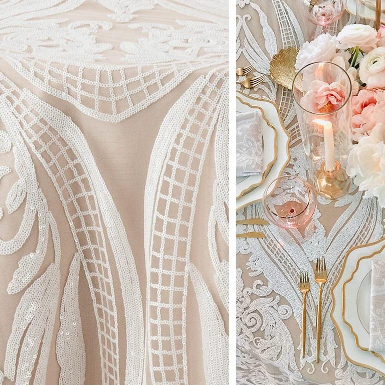 table linens:  nuage designs