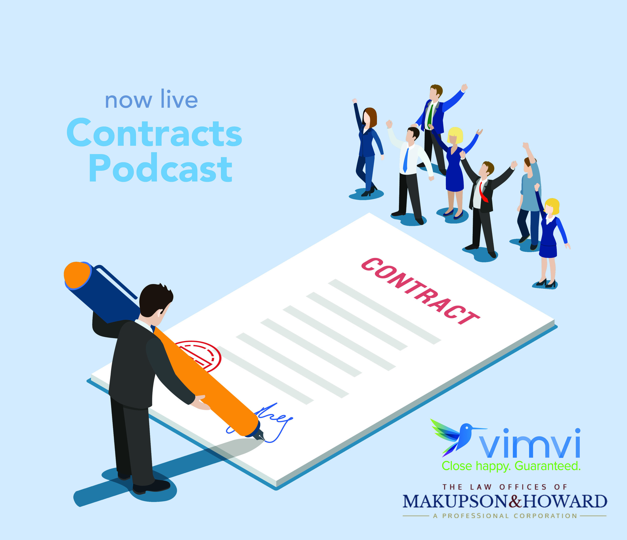 Contracts Podcast - with Carolyn Makupson, Esq. and Vimvi Founders.