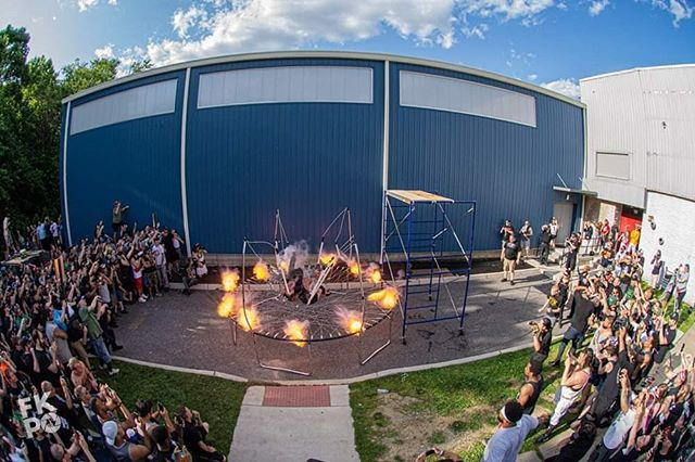 Ring of Fire  #fire #ringofdeath #czw #trampoline #bounce #highspot #tod18 #kurtzphotography #finals #boom #explosion #barbwire #deathmatch #hardcore #ultraviolent