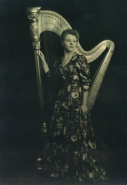 Seattle harpist and Chapter founder, Joan Clark.