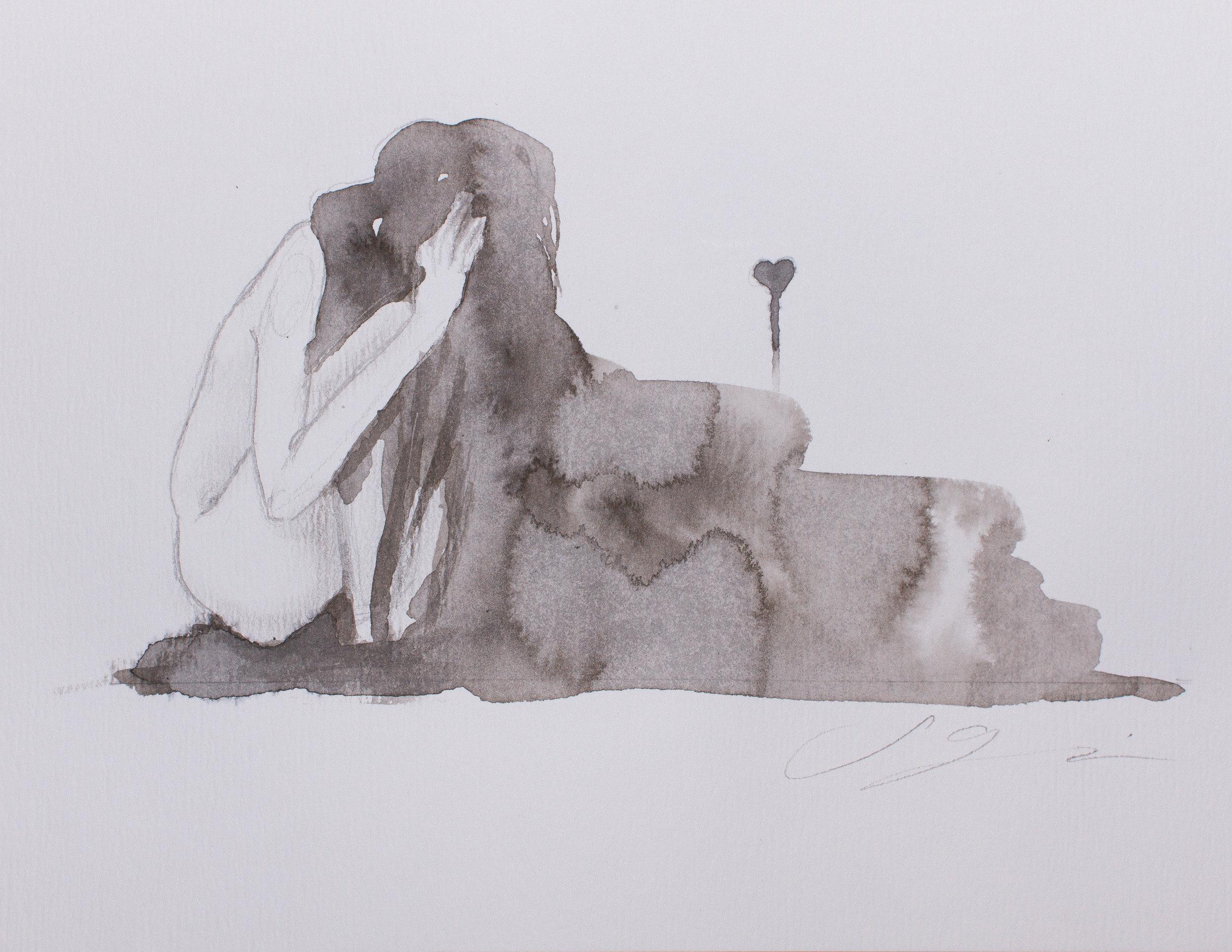 """Alone"" Illustrated by Sam Guzzie"