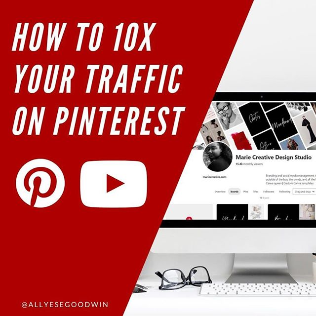 So I did something pretty wild and crazy. ⠀ ⠀ It's not something I would usually do. ⠀ ⠀ I started a Youtube channel! 🎉⠀ ⠀ I'm sharing with you how to 10x your traffic on Pinterest 😱⠀ ⠀ I know ranking #1 and increasing your traffic on Pinterest can be tricky. This method has helped me not only increase my clients monthly viewers and followers on Pinterest, but it's also helped me rank #1, improve my SEO, and come up with different content ideas!⠀ ⠀ Please click the link in my bio to watch..And if you like the video, tap the like and subscribe button!