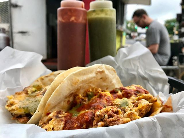 What rhymes with Monday?  Tacos! · · · · · · · · · · · · #ElPrimo #BurritoFactory #atx #tacos #foodtruck #streettacos #austin #austintx #mexicanfood #mexican #taco #tacotruck #atxrestaurants #atxfoodie