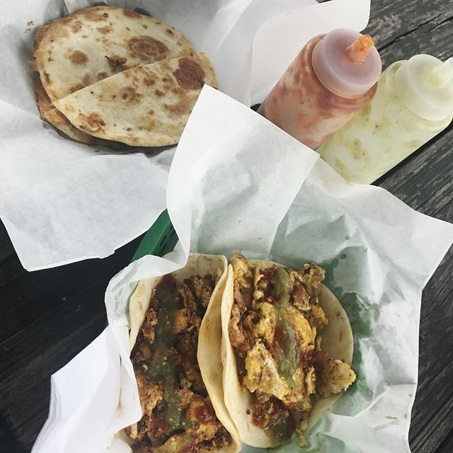 It's never too late for breakfast tacos • #ElPrimo #TacoTuesday • • • • • • • #atx #tacos #foodtruck #streettacos #austin #austintx #mexicanfood #mexican #taco #tacotruck #atxrestaurants #atxfoodie #yougottaeatthis #forkyeah