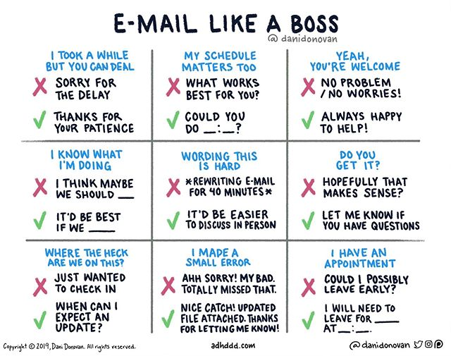This is perfection. 👌🏻 @danidonovan has captured nearly all the knee-jerk email replies that dilute your leadership effectiveness at work AND provided excellent alternatives. Time to #emaillikeaboss when we're back in the office on Tuesday!  #stopapologizing #womenwholead #careergoals
