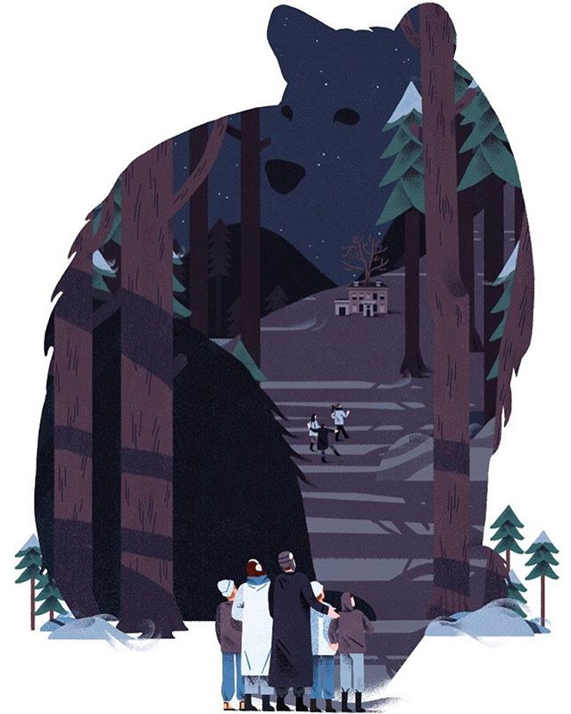 """For """"Ursa Minor"""", a fiction piece by Micheal Redhill for @globeandmail 📖 ⠀ """"It's 1978, Christmas dinner at the Gelmans. Kids play in the basement with electric trains while their parents drink upstairs. Then comes the annual hike, and the evening takes a harrowing turn"""""""