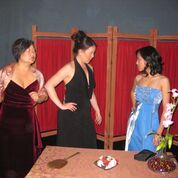 Elise Kim Prosser, Gina Ma and Trinity Tuyen. Photo courtesy of San Diego Asian American Repertory Theatre