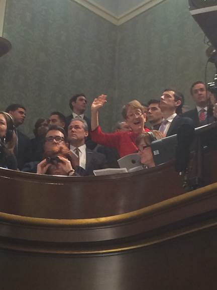 my friend Kitty Felde at the State of the Union when it was at the Capitol