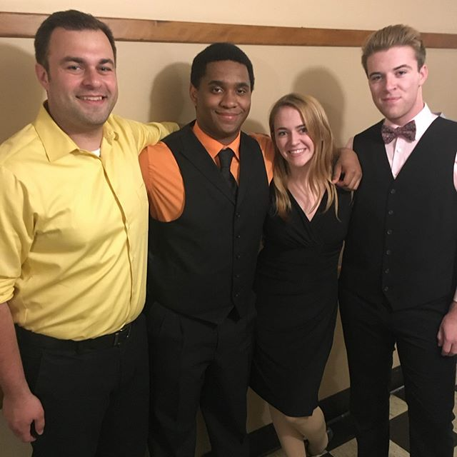 @gkawards last weekend. Congrats to @prestonsproctorjr for his nomination for best actor. Alumni guests also took part @spackle @mairead.hill @jayquinio. Juniors @nick__catanzaro and @ep_1916 also performed in the finale.