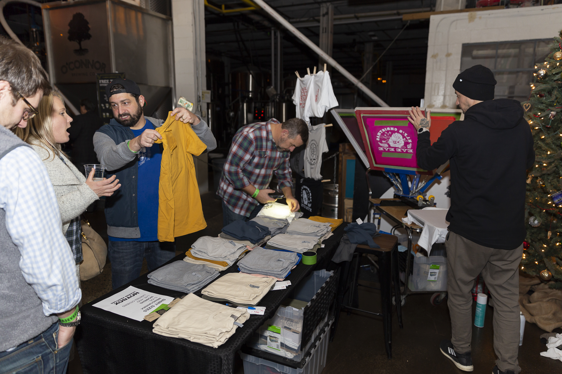 Hotbox RVA Live Printing Shirts