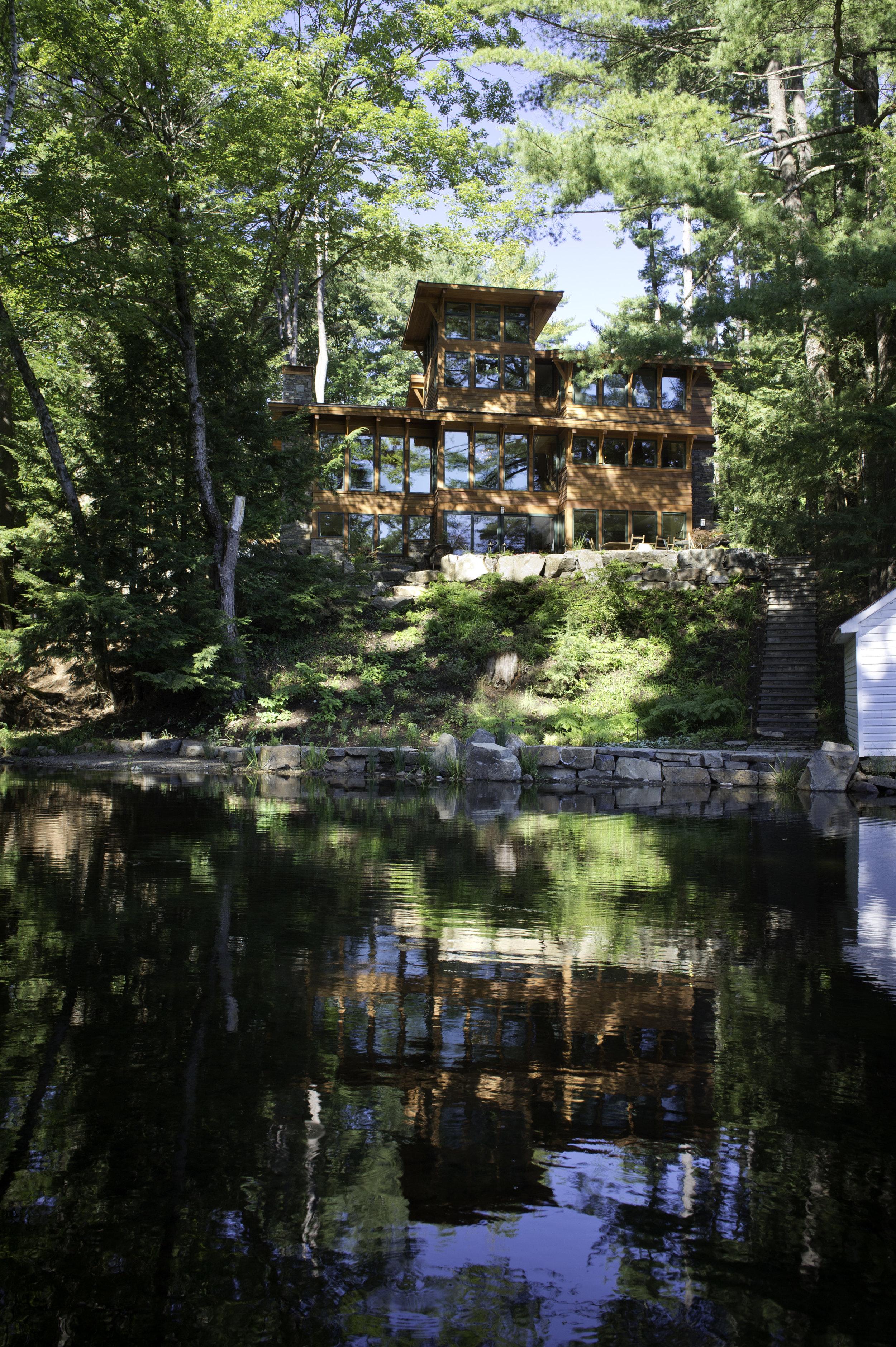 Exterior lakeside