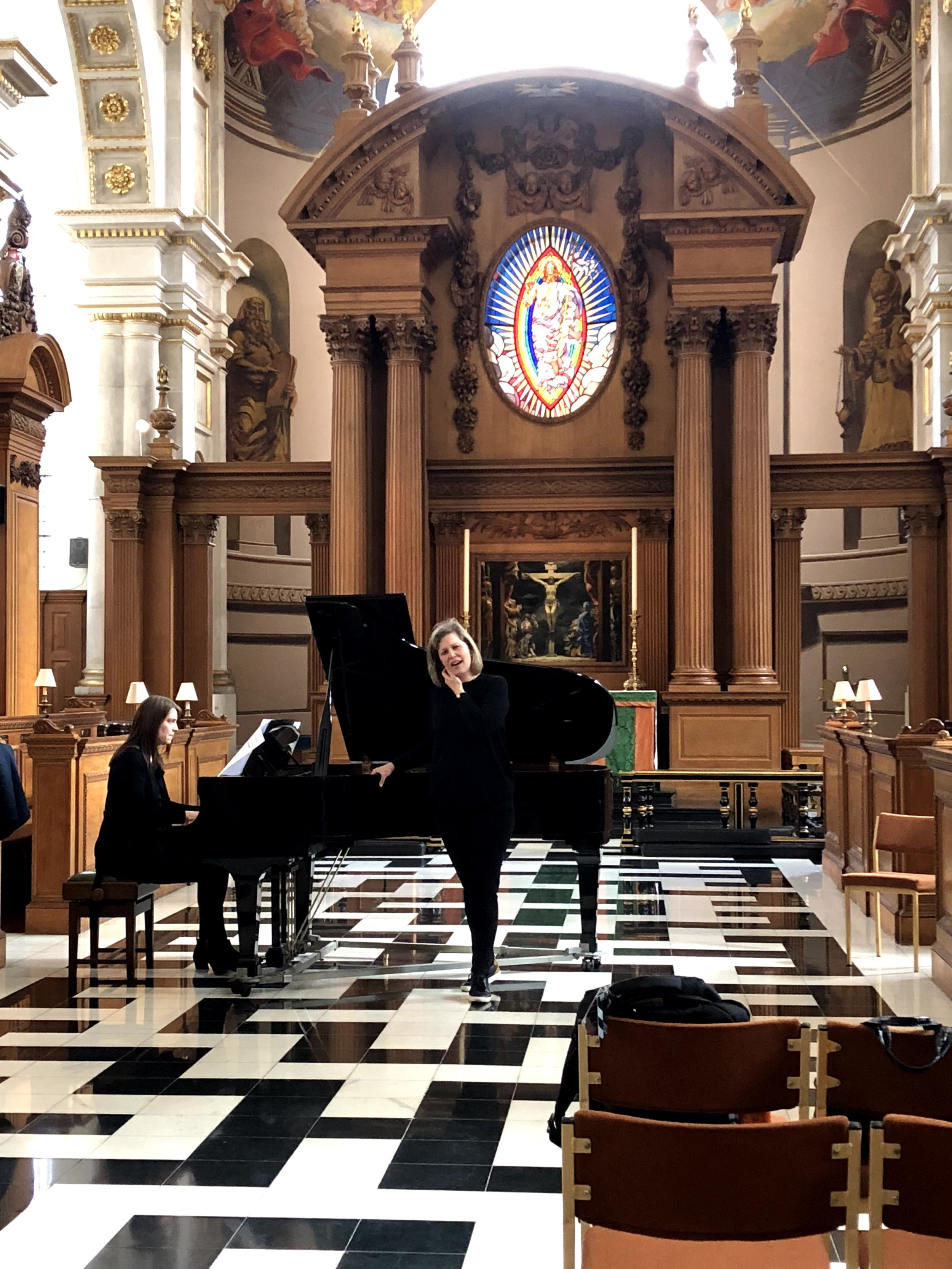 In rehearsal at St. Brides, London