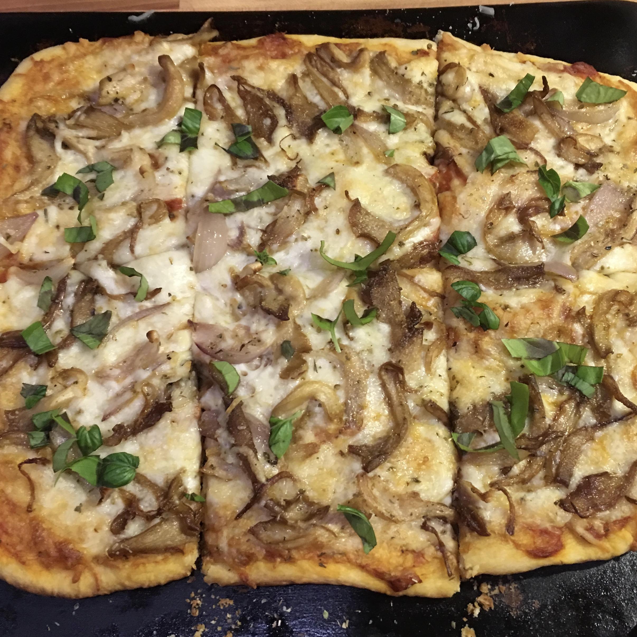 Yummy mushroom pizza