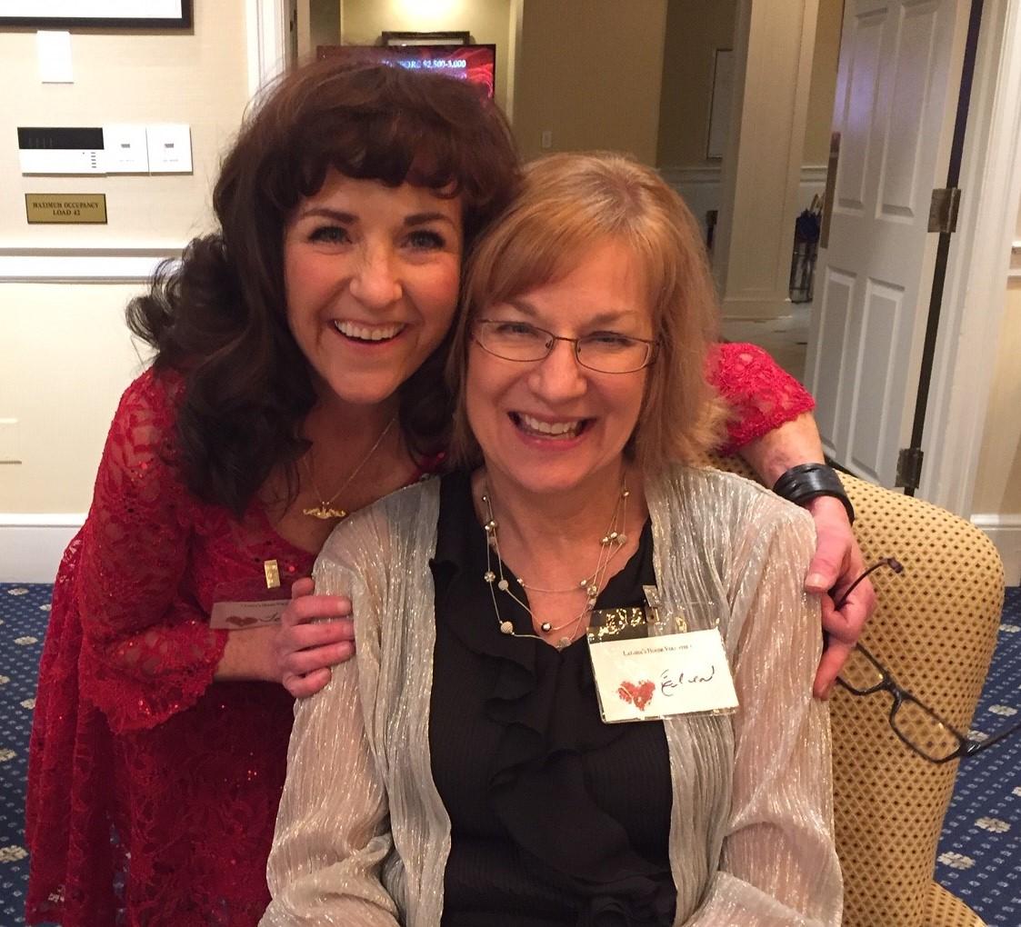 latisha's house benefit - Teresa and Ellen enjoyed meeting everyone at the benefit.