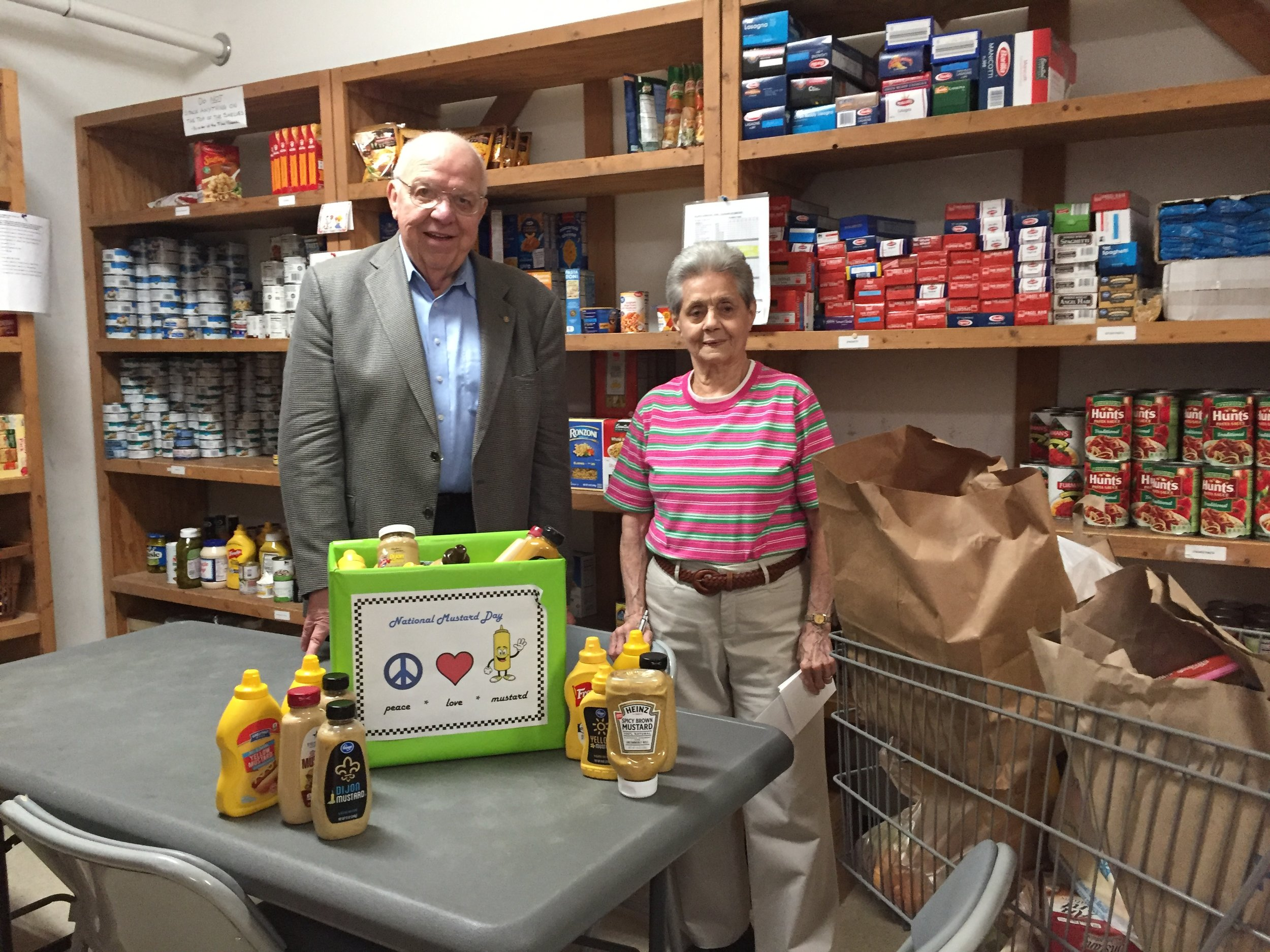 our donations at fish - Jim Johnson delivers carts full of donations to Billie Johnston at FISH each month.